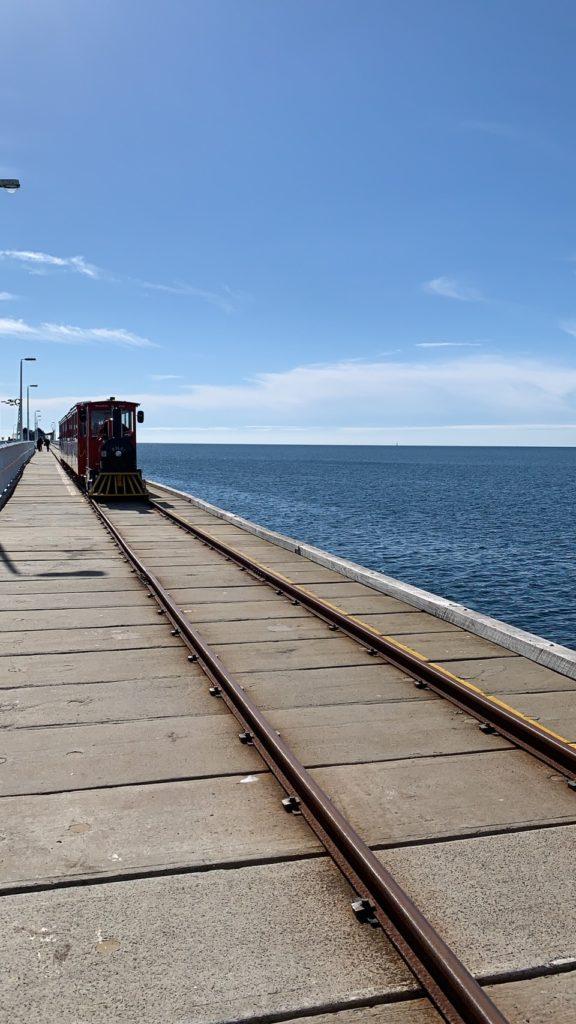 海の上に立つ線路で有名な Busselton Jetty(長い桟橋です) を目当てに訪れる方が多い観光地でも有名な街です。