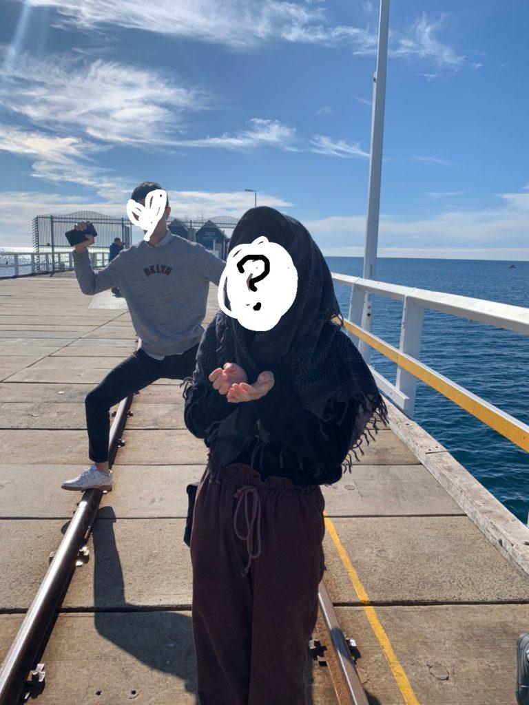 海の上に立つ線路で有名な Busselton Jetty(長い桟橋です) 歩いて渡ってみました!