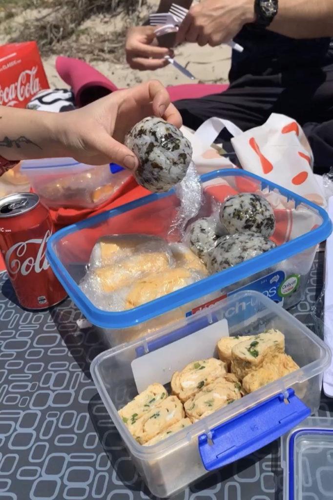 オーガスタに観光。みんなでお弁当を持ち寄りシェアしてプチピクニックしました。