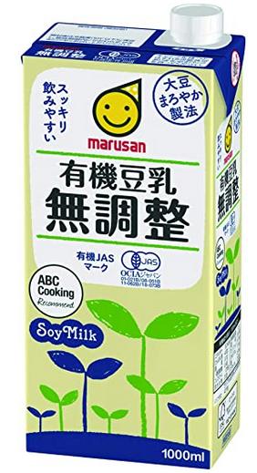 マルサン・有機豆乳無調整 (1000ml×6本)