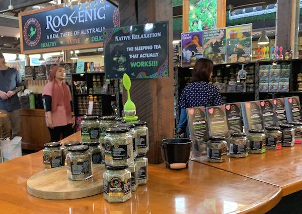 フリーマントルマーケット・コロナ禍の街の様子【西オーストラリア観光】ルージェニック(ROOGENIC)というハーブティーブランド。